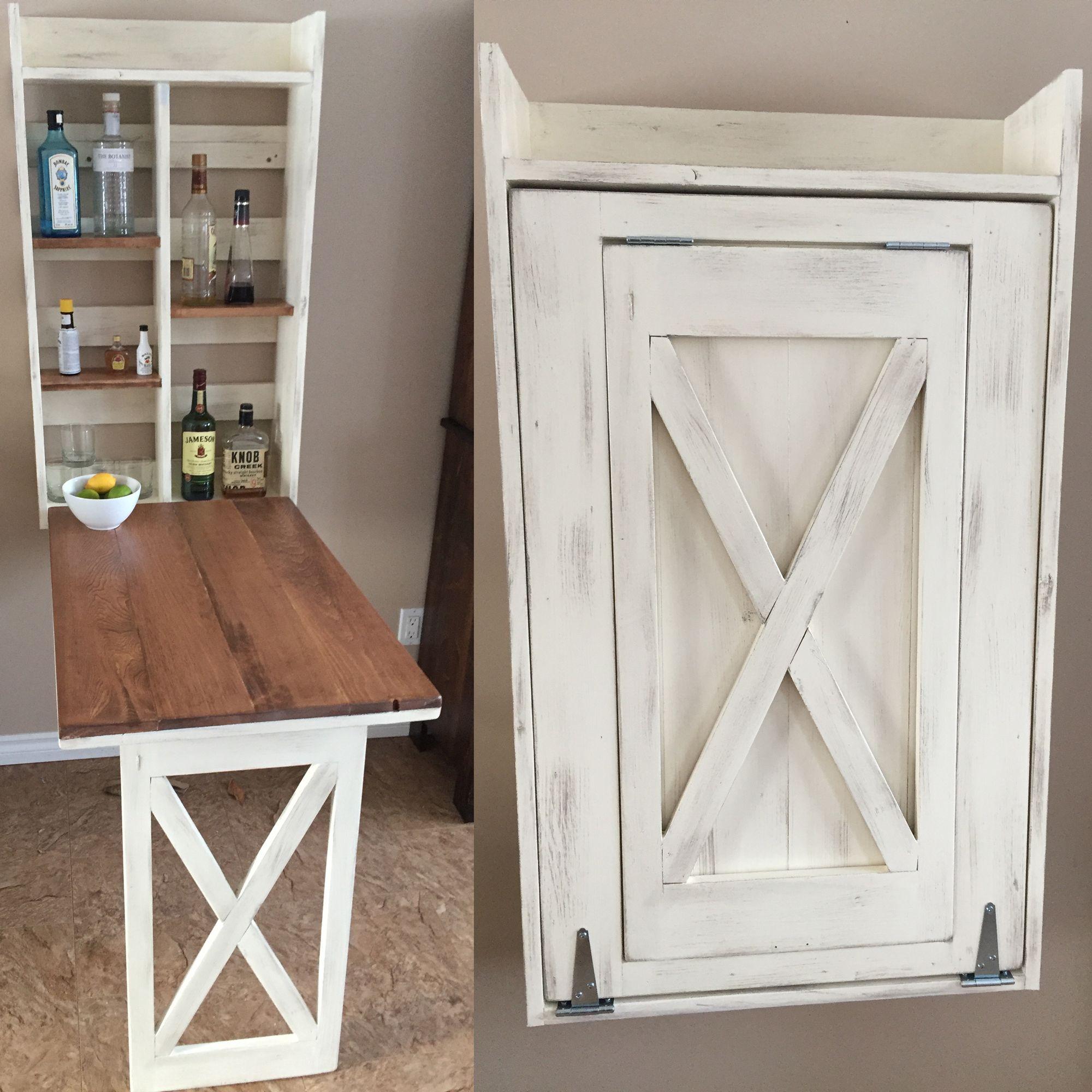 murphy kitchen table Drop down murphy bar DIY Projects Kitchen Hidden TableMurphy