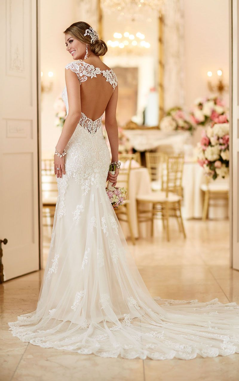 wedding dress mermaid Demure yet stylish this sleeveless all over lace mermaid gown is the epitome of classic