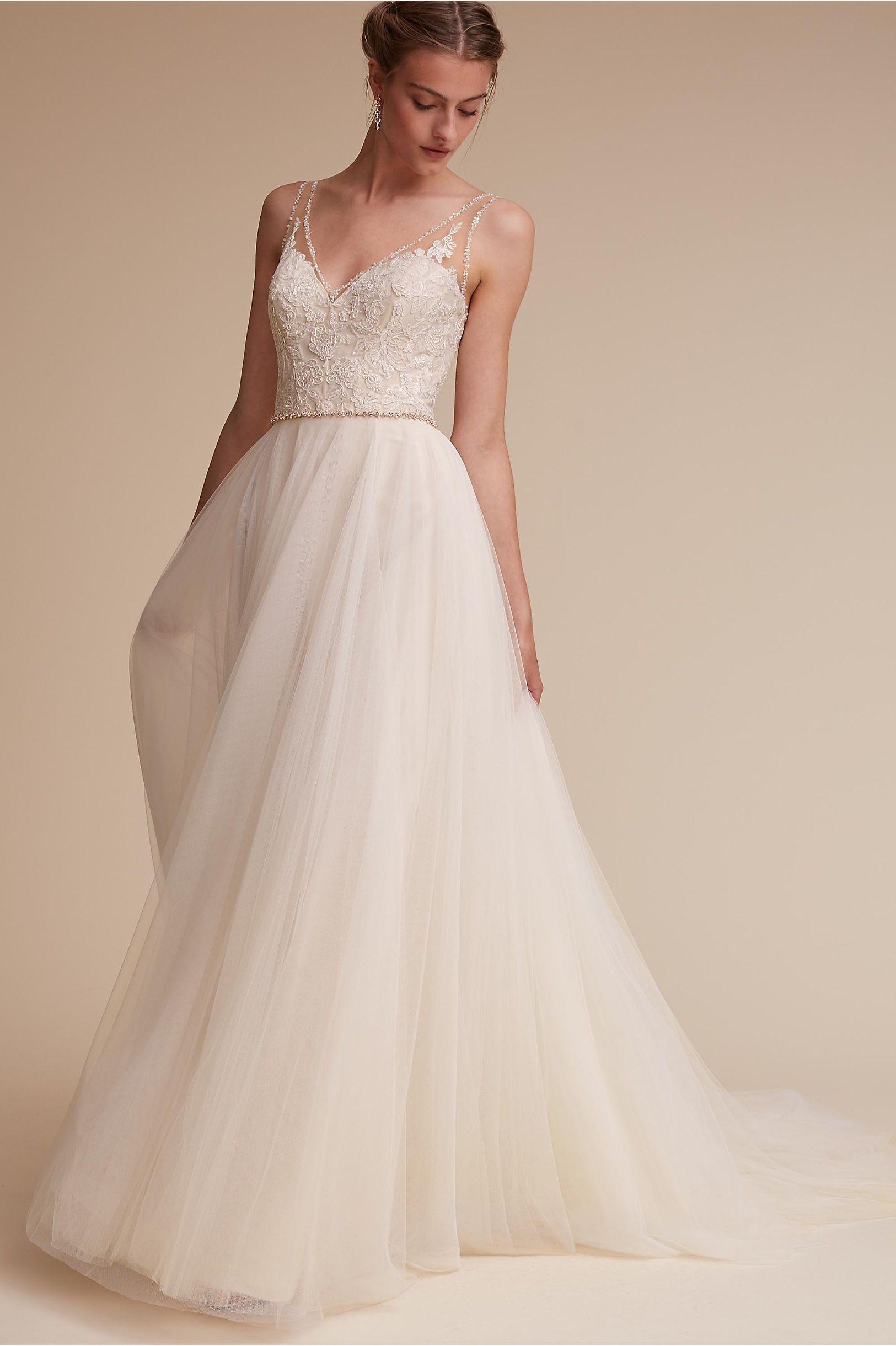 sundress wedding dress BHLDN Cassia Gown in Bride Wedding Dresses BHLDN
