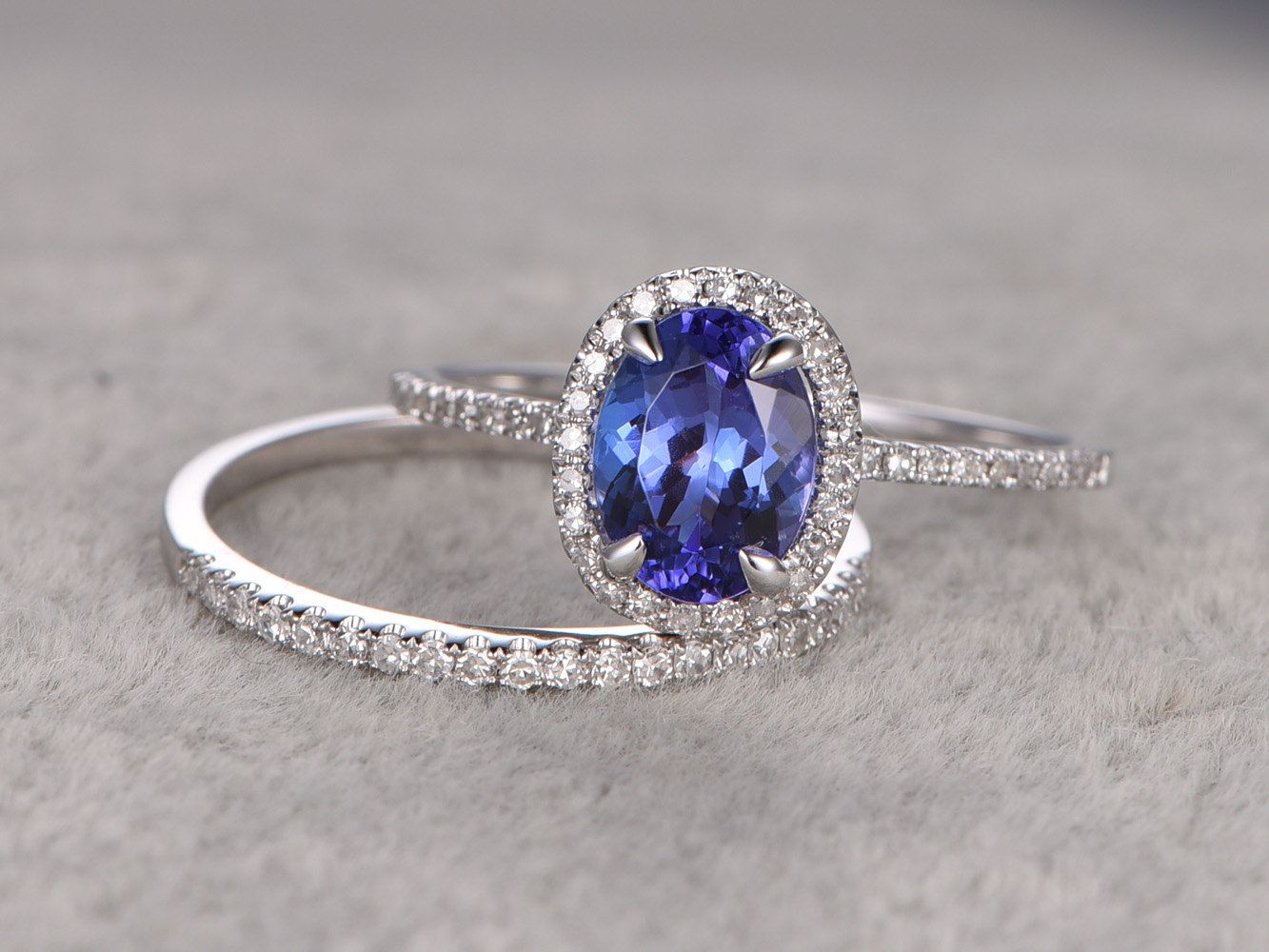 tanzanite jewelry tanzanite wedding rings 1 28ctw Oval Tanzanite Engagement ring VS Diamond Promise Ring 14K White Gold