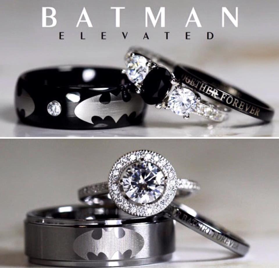 spiderman wedding ring Batman Wedding Ring Sets Engagement Ring Wedding Band