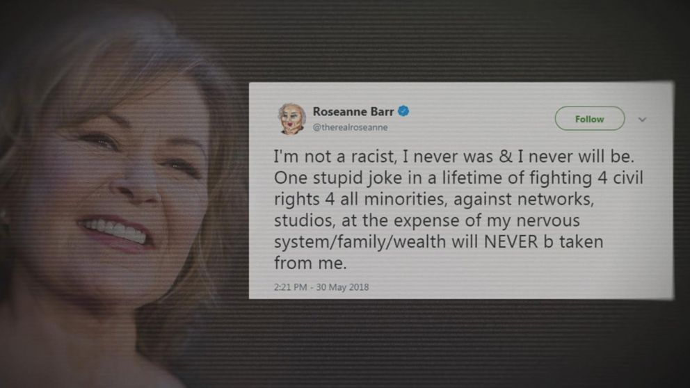 Roseanne Barr says  I m not a racist   calls controversial tweet     buffering
