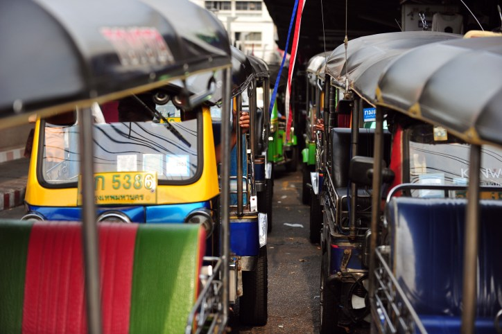 Line of tuk-tuks