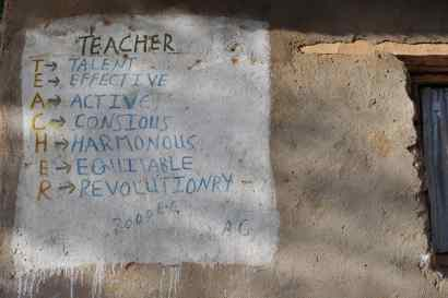 Teacher: talent, effective, active, conscious, harmonious, equitable, revolutionary