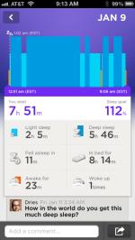 I'm very proud of my sleep.