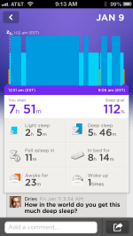 I'm very proud of my sleep.