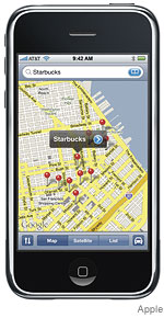 iPhone with Google Maps