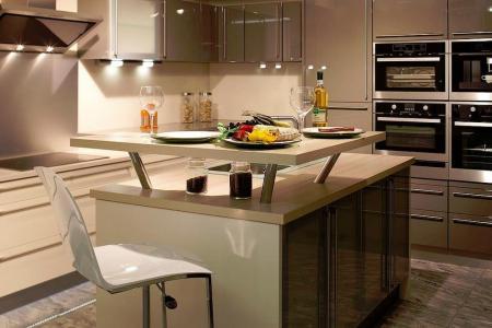 121598 cuisine design et contemporaine cuisine avec ilot central