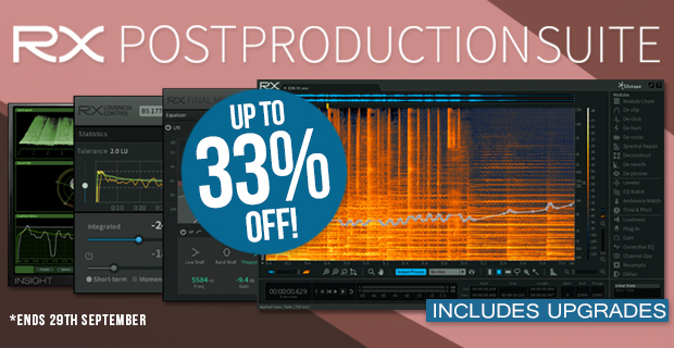 620x320 rx5 postproductionsuite upto33 pluginboutique