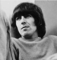 beatles, beautiful, black and white, cute, george harrison