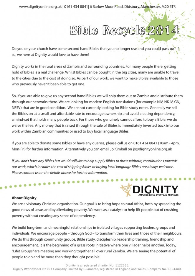 Dignity Bible Recycle