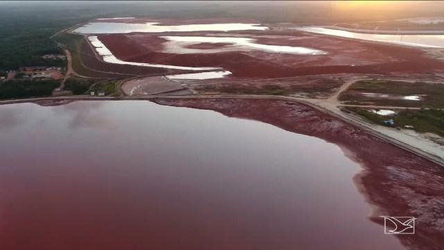 Retrato do impacto ambiental causado pela atividade da Alumar em São Luís (Foto: Reprodução/TV Mirante)
