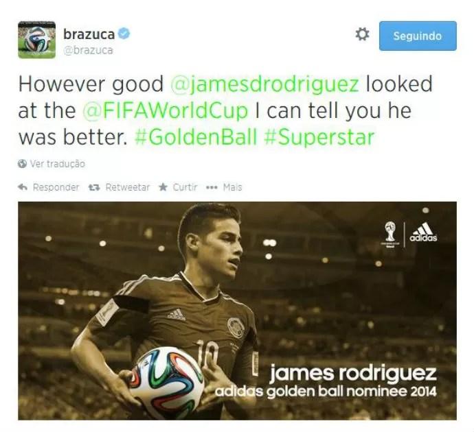 James Rodríguez está entre os melhores da Copa do Mundo