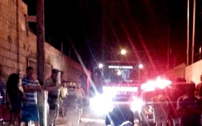Bombeiro conta que, ao chegar ao local, crianças já estavam mortas (Foto: Divulgação/ Corpo de Bombeiros)