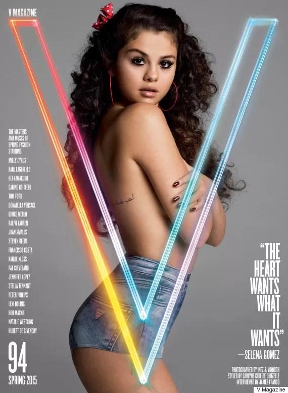 Selena Gomez posa de topless para revista