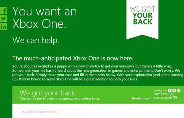 Microsoft cria carta para convencer namoradas a comprar novo Xbox One