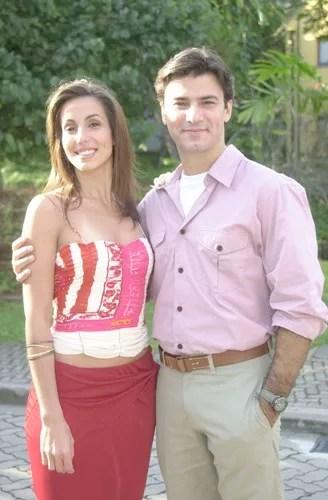Leandro (leonardo Vieira) e Nalva (Tania Khalill) em 'Senhora do destino' (Foto: Reprodução)