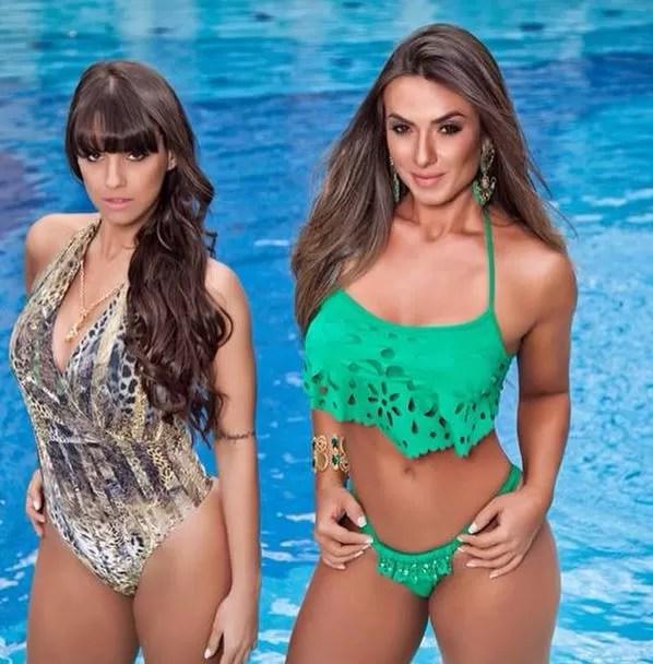 Nicole Bahls e Carol Dias posam juntas para marca de roupa (Foto: Reprodução/Instagram)