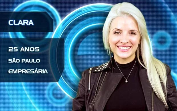 Clara (Foto: TV Globo/BBB)
