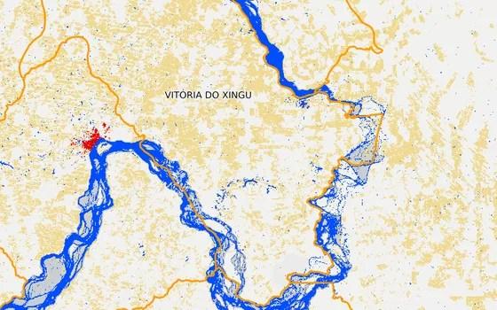 Vitória do Xingu em 2014 (Foto: MapBiomas)