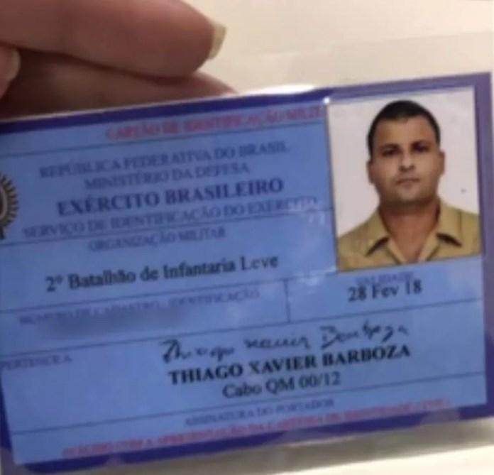 Músico servia no 2º Bil, em São Vicente, SP (Foto: Reprodução/TV Globo)