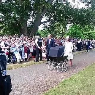 Batizado da Princesa Charlotte (Foto: Reprodução/ Vine)