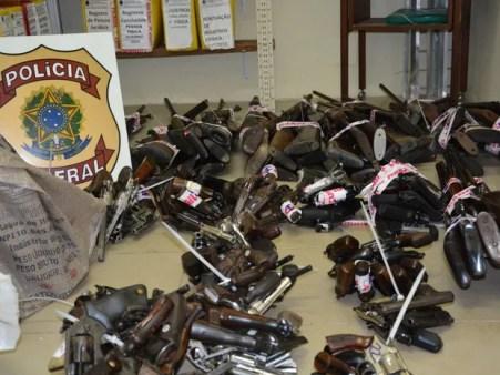 Armas foram entregues para a Polícia Federal (Foto: Ascom PF)