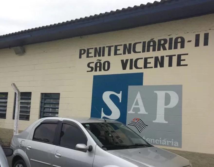 Penitenciária II de São Vicente (Foto: Natasha Guerrize/G1)