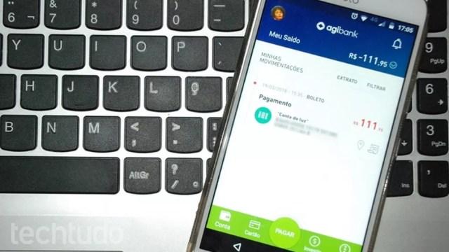 Aplicativo do Agibank e outros bancos digitais concentram todas as funções da conta (Foto: Raquel Freire/TechTudo)