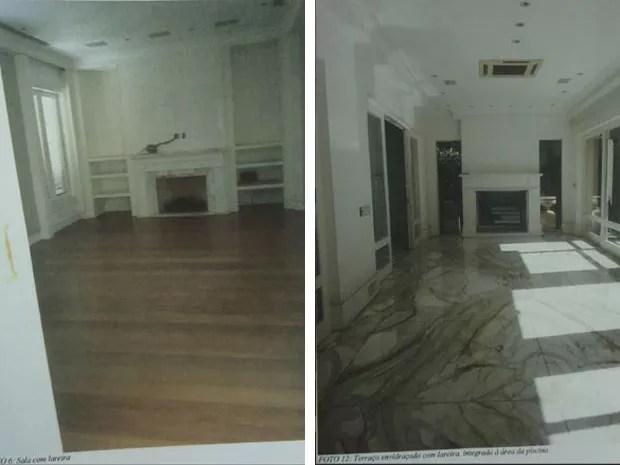 Mansão da família Abdelmassih possui duas lareiras: uma numa sala e outra no terraço (Foto: Reprodução/ site Lut Leilões)