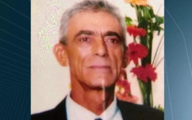 O lenhador Hélio Alves Borges, de 66 anos, foi morto a tiros em Guapó (Foto: Reprodução/TV Anhanguera)