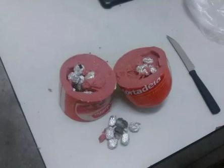 Droga foi encontrada dentro de uma mortadela (Foto: Ascom PMPE)