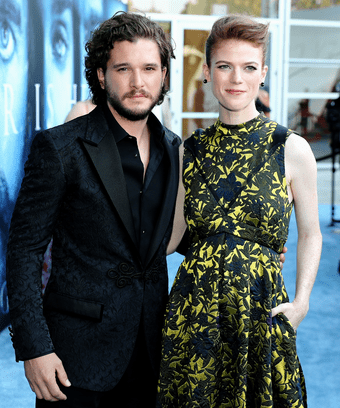 Kit Harington Rose Leslie Engaged Or Not Rumors Game of Thrones Co Stars Kit Harington   Rose Leslie Aren t Engaged After  All