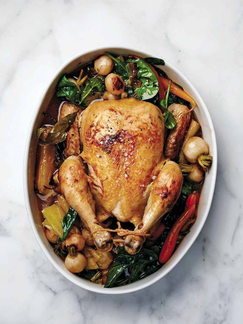 Large Of Chicken In A Pot