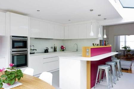 kitchen diner pink