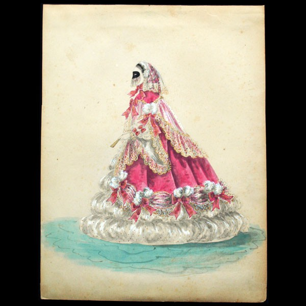 Costume de Worth - dessin de Charles Pilatte