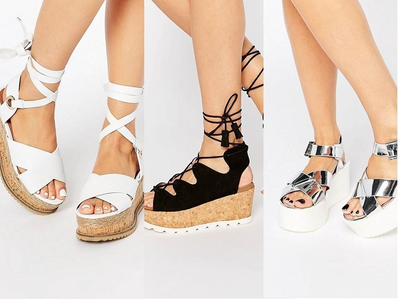 """La moda del momento"""" Sandali platform! Ecco a voi tante ispirazioni last-minute per l'estate."""