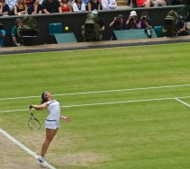 Marion Bartoli Serving at Wimbledon 2013
