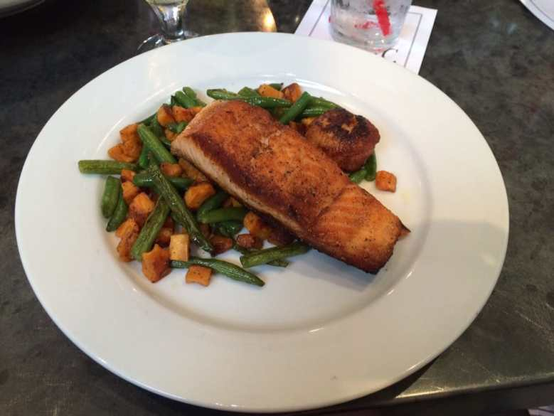 Paleo Salmon With Scalloped Sweet Potatoes