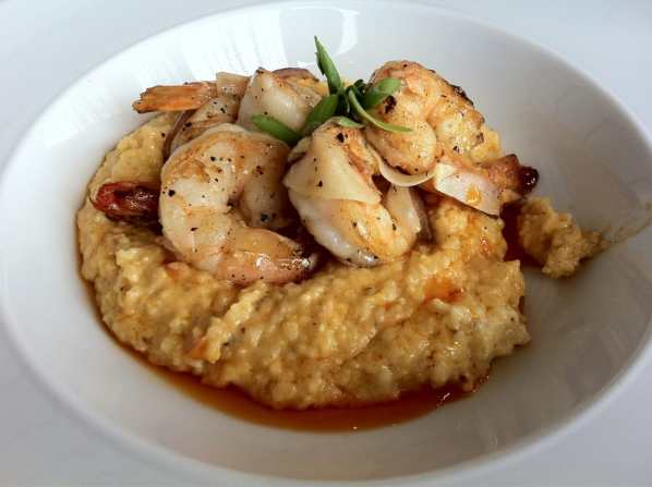 Underbelly - Houston, TX, United States. Shrimp and cheese grits