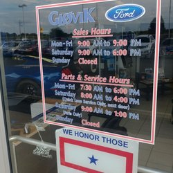 Gjovik Ford Inc    21 Reviews   Auto Repair   2600 US Rt 34 E     Photo of Gjovik Ford Inc    Sandwich  IL  United States