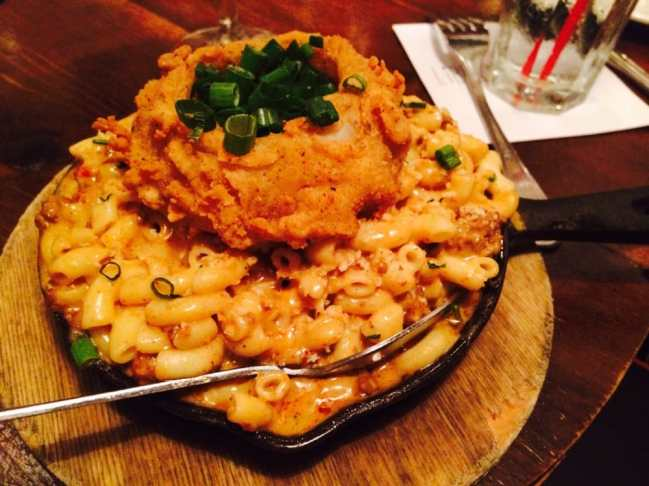 """Liberty Kitchen & Oyster Bar - Houston, TX, United States. They hv mac n cheese and lobsta mac and cheese, but this special was """"green chile con queso mac"""" - like gourmet hamburger helper"""