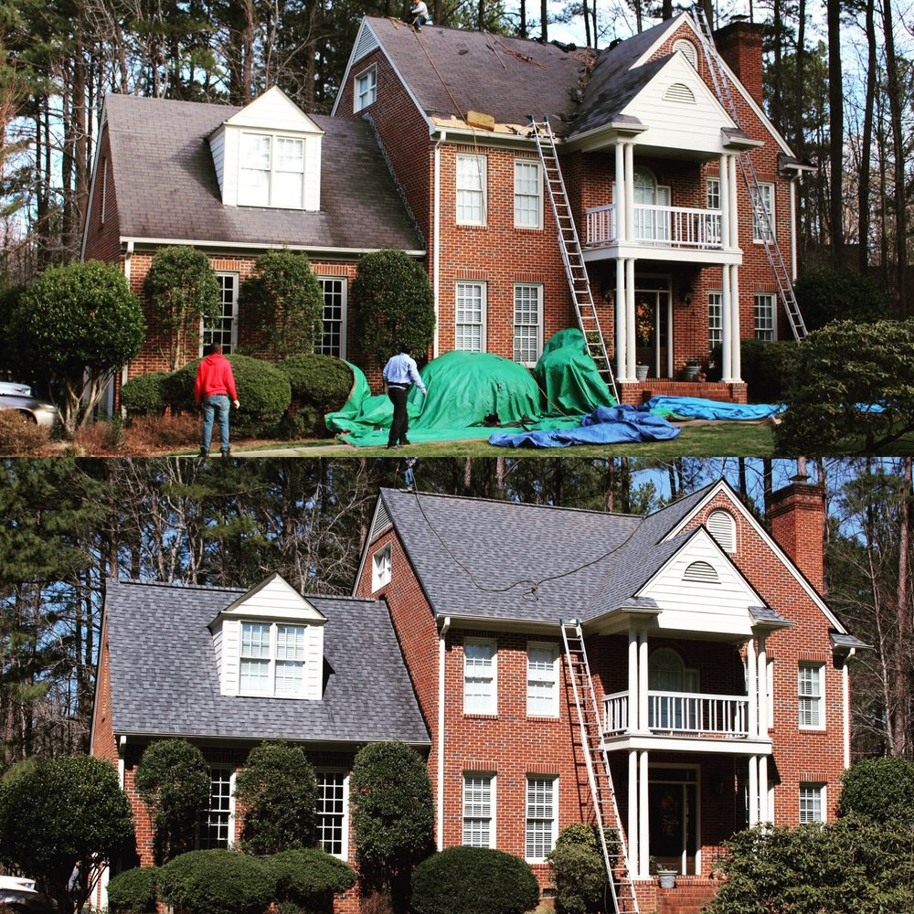 Wonderful A Newly Installed Gaf Timberline Hd Gaf Timberline Hd Hickory Gaf Timberline Hd Reflector Consolidated Roofing Systems Before And Photos houzz-03 Gaf Timberline Hd