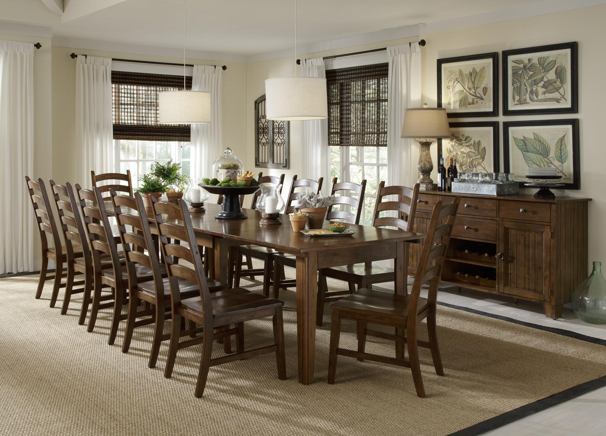 havertys kitchen tables Solid Wood Leg Table with 3 Self Storing Leaves