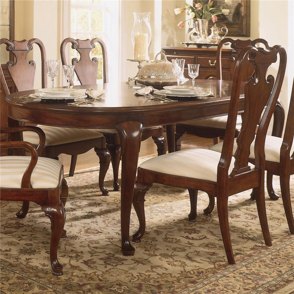 oval kitchen table Traditional Oval Dining Table
