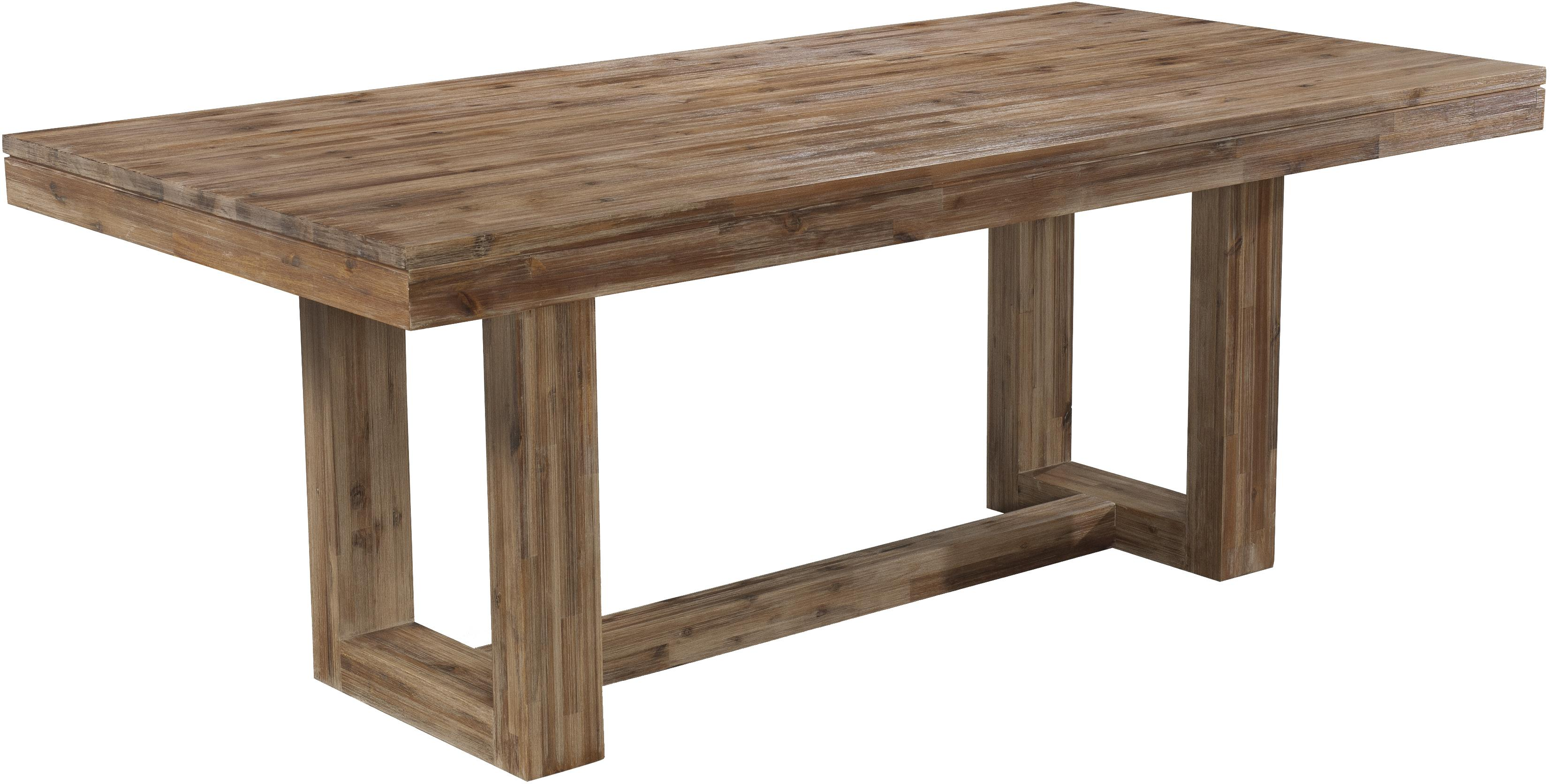 rectangle kitchen table Modern Rectangular Dining Table with Rustic Trestle Base