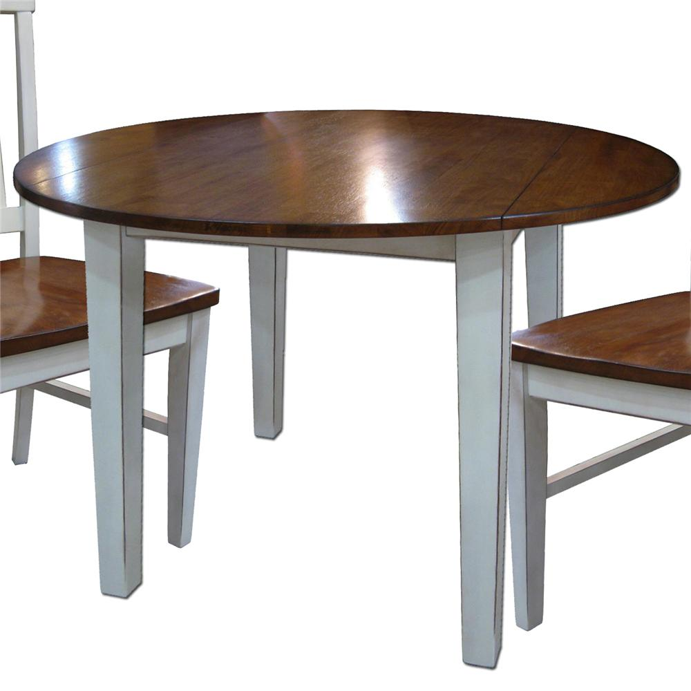 two tone kitchen table Round Drop Leaf Table