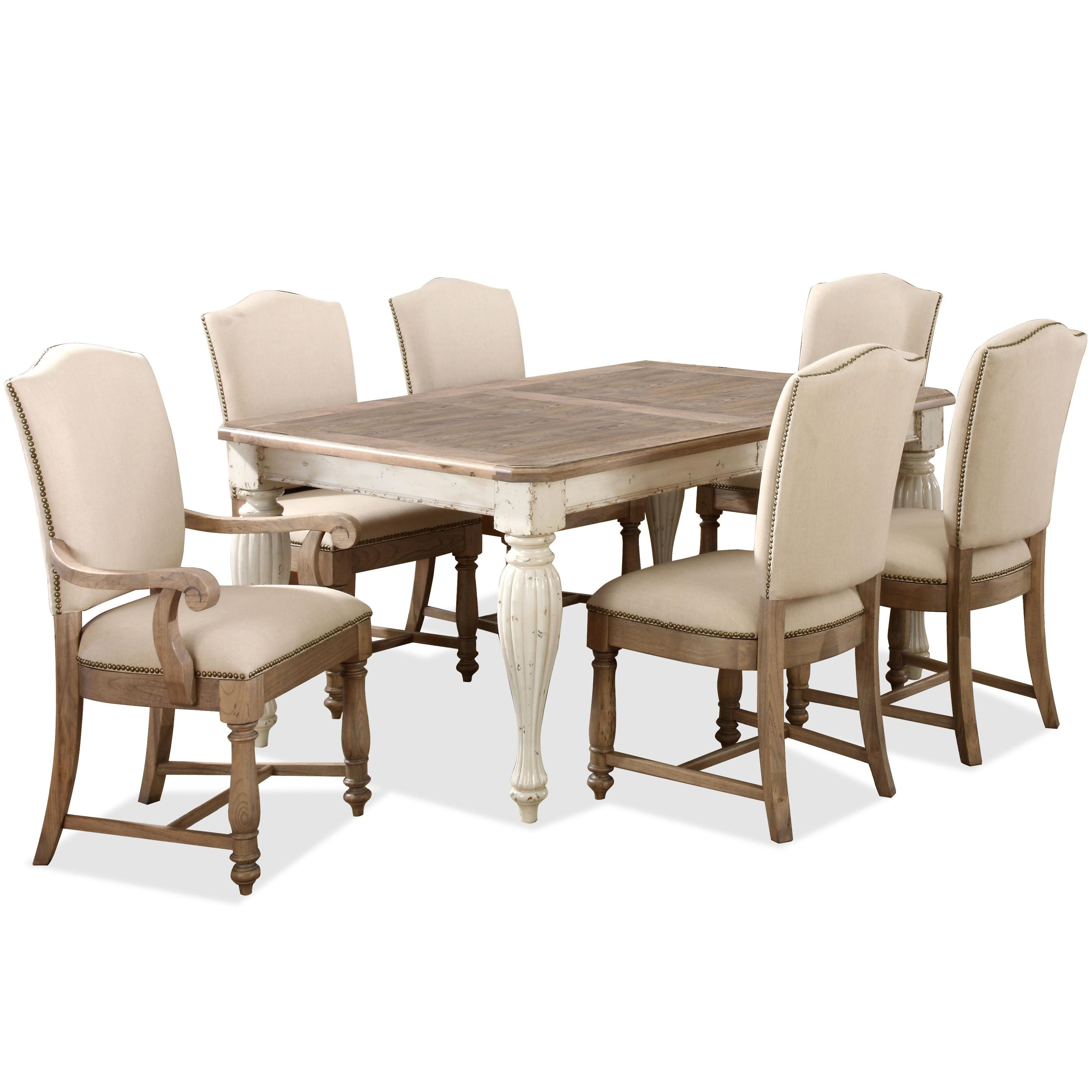 two tone kitchen table Rectangular Leg Dining Table with 18 Leaf