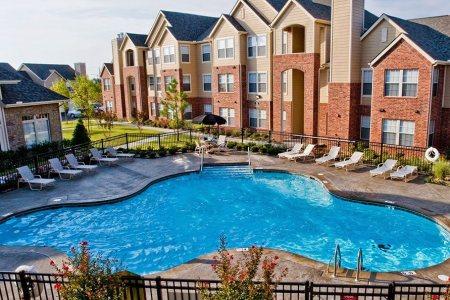aerial pool view at tulsa apartments