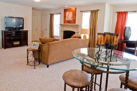 living room at tulsa apartments